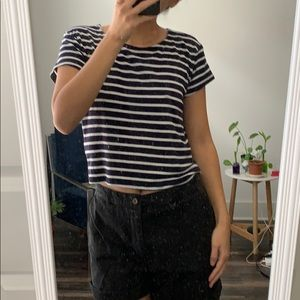 Forever 21 striped crop tee size small